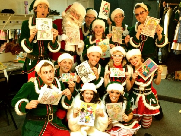 Photo Flash: Saturday Intermission Pics, Dec 15, Part 2 - More Heartfelt Newtown Tributes and Christmas Cheer!