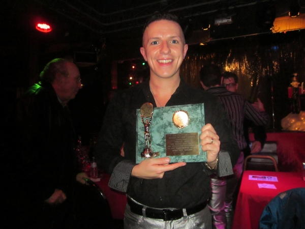 Peter Mac with Golden Halo Award