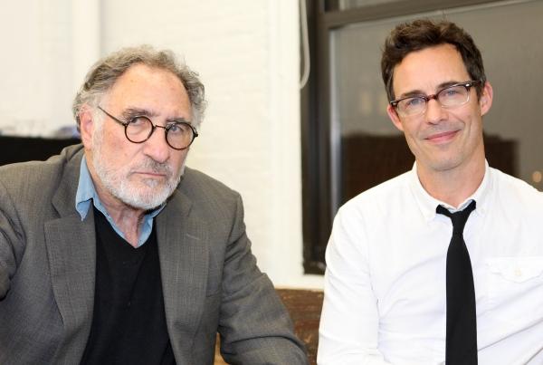 Judd Hirsch & Tom Cavanagh in rehearsal for 'Freud's Last Session'. Judd Hirsch as Si Photo