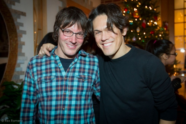John Skibic, Mig Ayesa pose for BroadwayWorld (photo by Rex Romero)