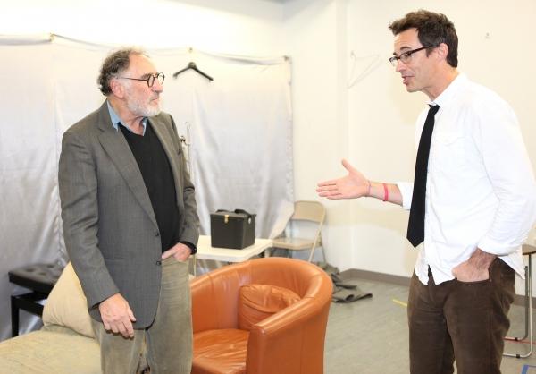 Judd Hirsch & Tom Cavanagh at Tom Cavanagh & Judd Hirsch in Rehearsal for FREUD'S LAST SESSION