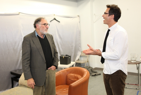 Judd Hirsch & Tom Cavanagh at Tom Cavanagh & Judd Hirsch in Rehearsal for FREUD'S LAST SESSION