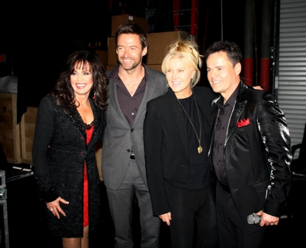 Marie Osmond, Hugh Jackman, Deborra-Lee Furness and Donny Osmond