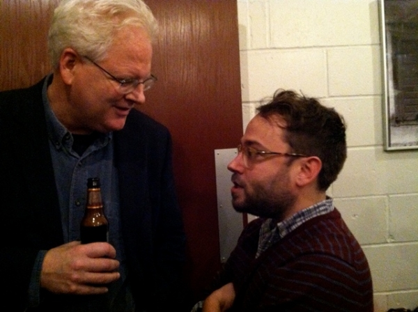 Robert Lyons and Stephen Brackett at Opening Night at terraNOVA's P.S. JONES AND THE FROZEN CITY at New Ohio Theatre
