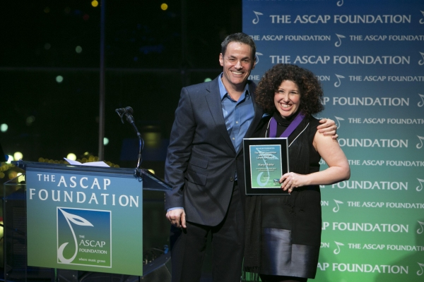 Adam Guettel and Marcy Heisler at Inside the 2012 ASCAP Foundation Awards!
