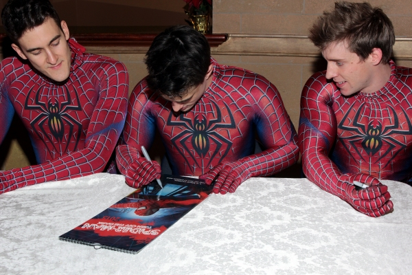 Photo Coverage: Reeve Carney & SPIDER-MAN Cast Sign 2013 Calendars!