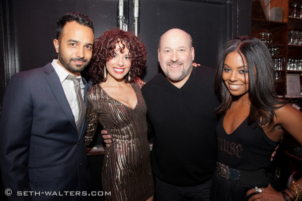 Andy Senor, Jr., Janet Dacal, Frank Wildhorn and Adrienne Warren at Jeremy Jordan, Laura Osnes and More Join Frank Wildhorn for FRANK & FRIENDS at Birdland