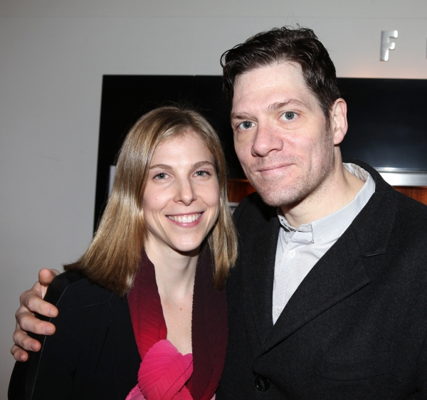Carolyn Cantor & Adam Rapp at Inside Opening Night of THE GREAT GOD PAN