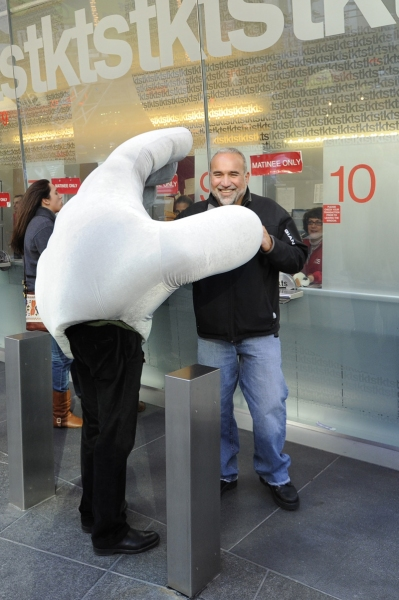 Photo Flash: Mummenschanz's Slinky Man and Two Giant Hands in Times Square