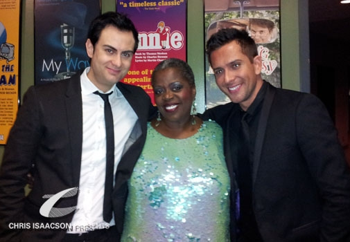 James Torme, Lillias White and David Hernandez at Upright Cabaret