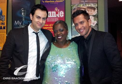 James Torme, Lillias White and David Hernandez at Upright Cabaret