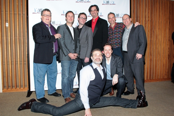 James Morgan, Michael Croiter, Timothy Splain, Ritt Henn, Andrew Levine, Marc Kudisch, Jeffry Denman at Inside Opening Night of THE HOLIDAY GUYS!