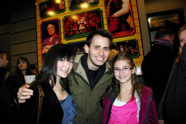 Emily Rudolph and Casey Gorab with Benj Pasek
