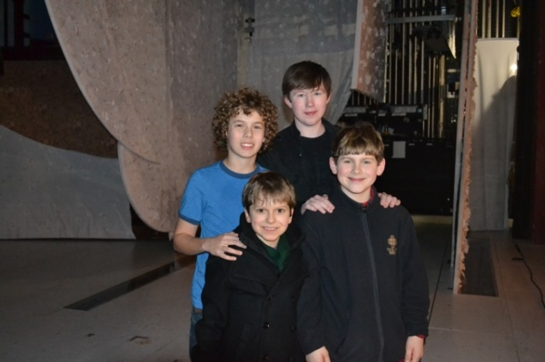 Jake Bennett Siegfried (Randy, 2009 Kansas City Production) and Zachary Sayle (Ralphie, 2009 Kansas City Production) with Broadway's Zac Ballard (Randy) and Johnny Rabe (Ralphie)