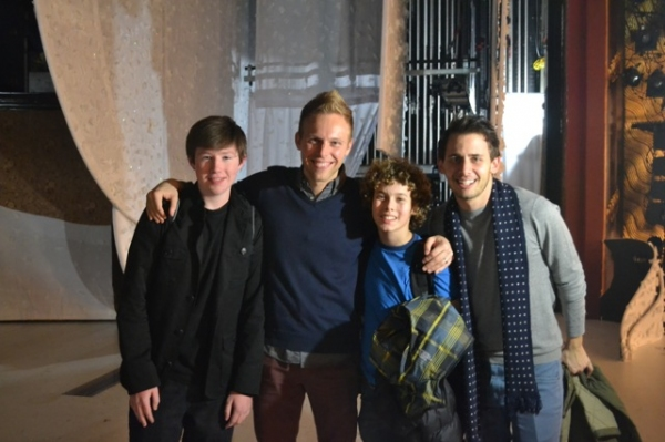 Zachary Sayle and Jake Bennett Siegfried, Ralphie and Randy from the 2009 Kansas City Production with Benj Pasek and Justin Paul