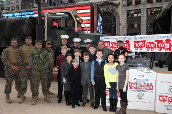 FREEZE FRAME: A CHRISTMAS STORY Cast Visits Toys For Tots