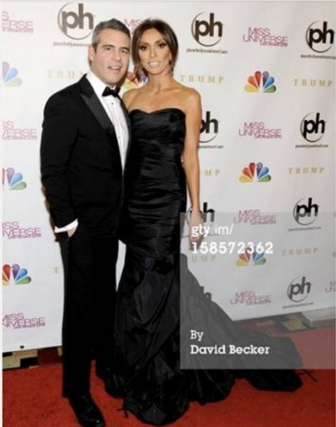 Giuliana Rancic with co-host Andy Cohen at the Miss Universe Pageant in Las Vegas (Photos by David Becker gty.img)