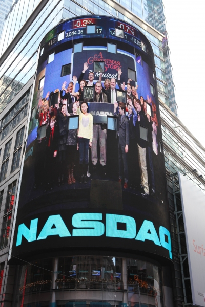 Exclusive Photo Coverage: A CHRISTMAS STORY Cast Visits NASDAQ Times Square