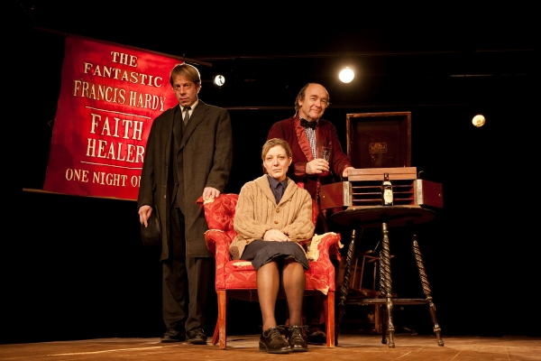 Si Osborne, Lia D. Mortensen and Brad Armacost in a publicity image for The Den Theatre's remount of TurnAround Theatre's original production of FAITH HEALER by Brian Friel, directed by J.R. Sullivan. Photo by Joe Mazza. (Note: the actors do not appe