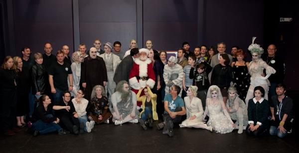 Photo Flash: Santa Visits THE ADDAMS FAMILY at Segerstrom Center