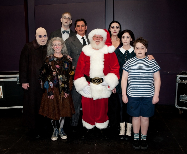 Photo Flash: Santa Visits THE ADDAMS FAMILY at Segerstrom Center
