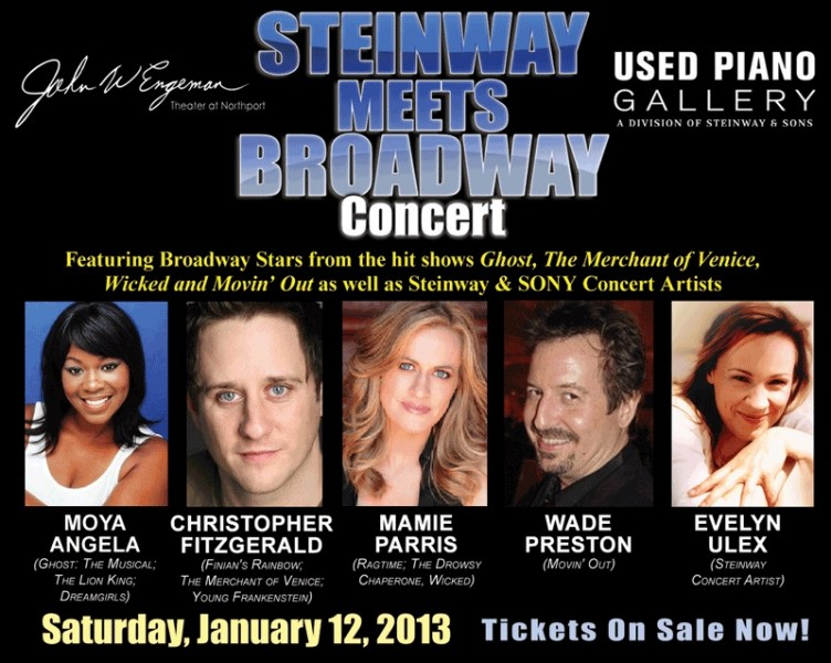 Broadway Concert Series and Steinway Meets Broadway Rescheduled for 1/11 & 12 at The John W. Engeman Theater