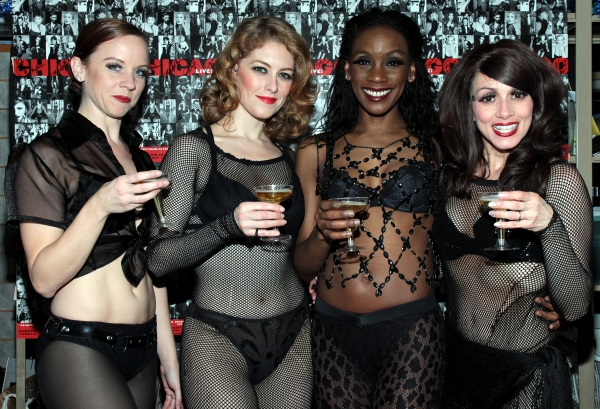 Tonya Wathen, Dylis Croman, Nicole Bridgewater, Donna Marie Asbury at CHICAGO Becomes 3rd Longest-Running Broadway Show!