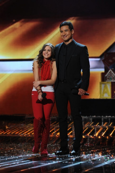 Carly Rose Sonenclar, Mario Lopez at Extended Look - Last Night's X FACTOR FINALE!