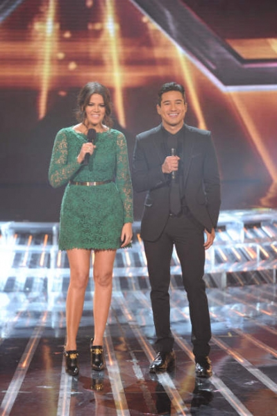 Khloe Kardashian Odom, Mario Lopez at Extended Look - Last Night's X FACTOR FINALE!