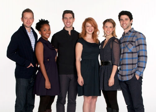 Old Globe/University of San Diego Graduate Theatre Program students and Jeremy Fisher, Erin Elizabeth Adams, Robbie Simpson, Danielle O'Farrell, Allison Layman and Adam Gerber