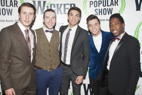 Outside of UK subscription dealsMandatory Credit: Photo by Dan Wooller/Rex / Rex USA (1192955av)Matt Turner, Oliver Brenin, Justin Thomas, Paulo Teixeira and Sean Parkins'Wicked' play press night after party at the Apollo Victoria Theatre, London, Brita