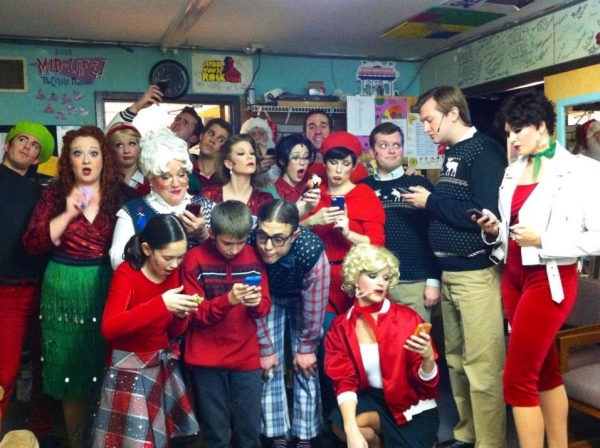 Photo Flash: Saturday Intermission Pics, Dec 22, Part 2 - Holiday Edition - DROOD's Bieber Christmas Wish and More!