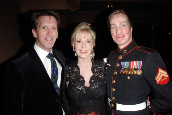 Joffrey Artistic Director Ashley Wheater, Patricia Kennedy, USMC Cpl. Aaron Mankin