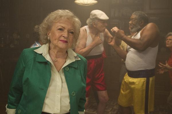 Betty White, Richard Reicheg, Lou Beatty, Jr. -- (Photo by: Justin Lubin/NBC)