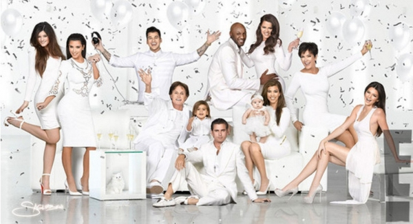Fashion Photo of the Day 12/25/12 - Kim Kardashian and Family