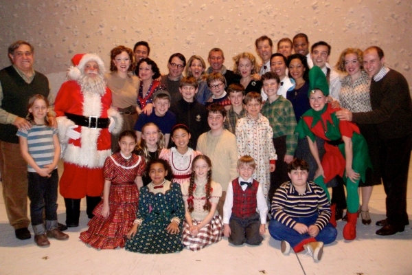 Matthew Broderick, James Broderick, Kelli O'Hara, Adam Shankman and the cast of A CHRISTMAS STORY