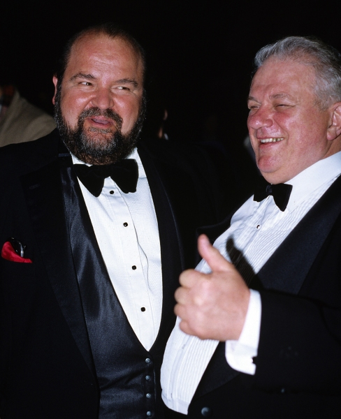 Dom DeLuise and Charles Durning in New York City, 1982.