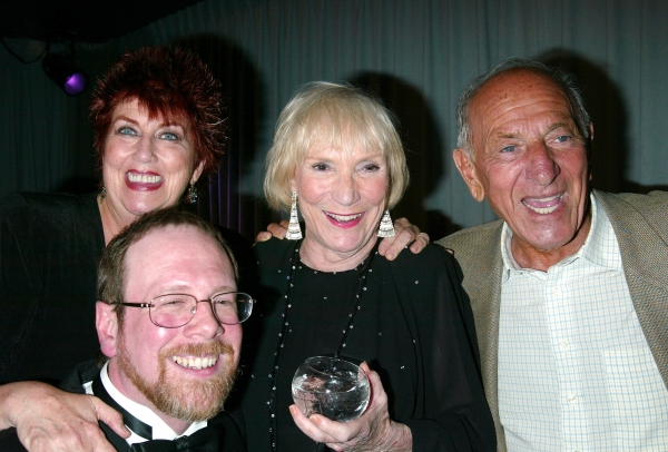Marcia Wallace, Mark Cherry, Brett Somers and Jack Klugman attending a performance of Photo