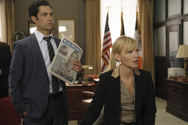 Danny Pino, Kelli Giddish at LAW & ORDER: SVU's 'Beautiful Frame,' Airs 1/9