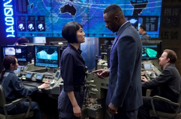 Rinko Kikuchi,Idris Elba, at First Look - Idris Elba in PACIFIC RIM
