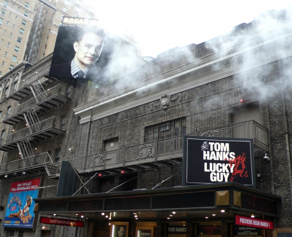 Up on the Marquee: LUCKY GUY, Starring Tom Hanks