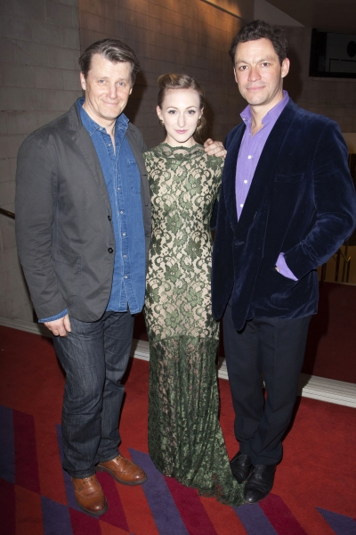 Anthony Calf (Colonel Pickering), Carly Bawden (Eliza Doolittle) and Dominic West (Professor Henry Higgins)