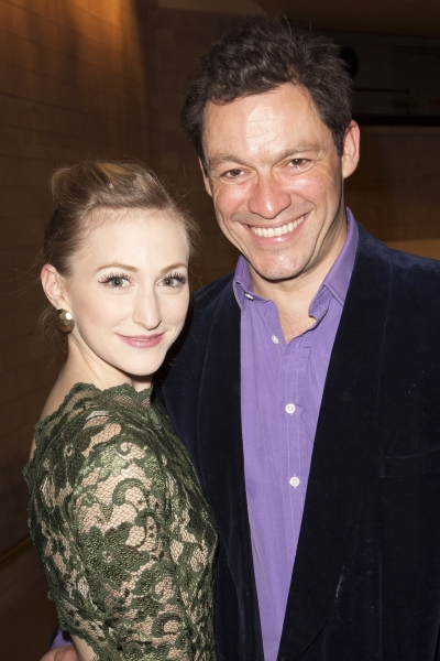 Carly Bawden (Eliza Doolittle) and Dominic West (Professor Henry Higgins)