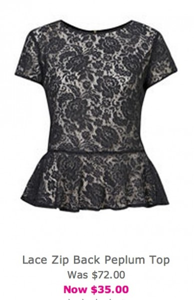 Daily Deal 12/31/12: Topshop