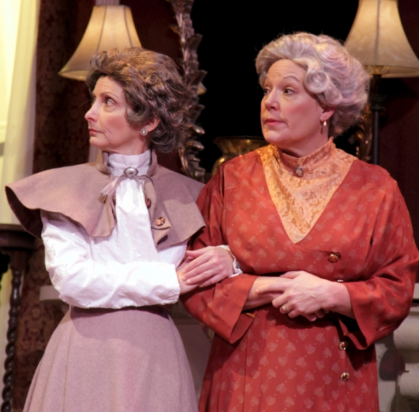 Gerri Weagraff is Martha Brewster, left, and Karen Pappas plays her spinster sister Abby Brewster.