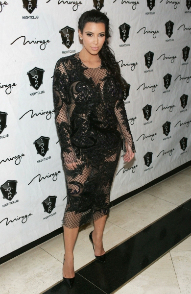 Kim Kardashian at her New Year's Eve Party at 1 OAK, Mirage Resort Hotel and Casino (Photo by Everett Collection / Rex USA)