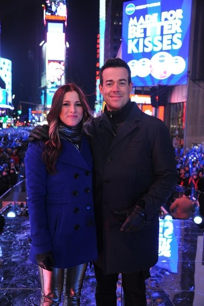 Cassadee Pope, Carson Daly  at Train & More on NBC's NEW YEAR'S EVE WITH CARSON DALY