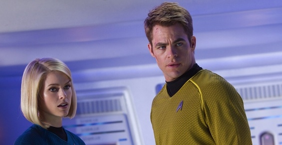 Alice Eve, Chris Pine at New HD Images of STAR TREK INTO DARKNESS Released