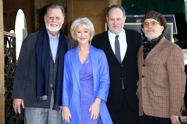 Taylor Hackford, Helen Mirren, Jon Turteltaub and David Mamet at Helen Mirren Receives Star on Hollywood Walk of Fame
