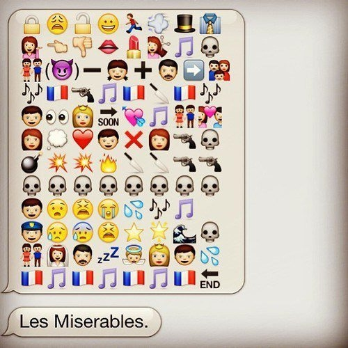 Photo Flash: LES MISERABLES Told Through Emoticons!